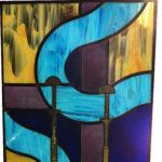 Glas in lood kantklosthema