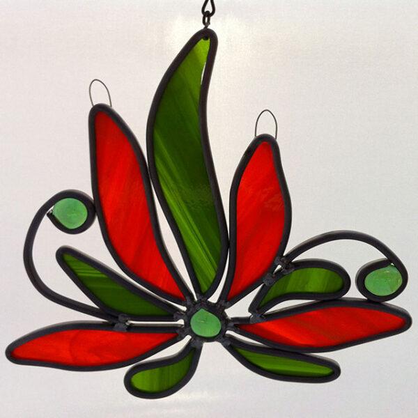 Lotusbloem Glas in lood