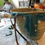 Ibiza tas Workshop blauwe sjaal