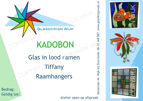 Kadobon Glas in lood of Tiffany