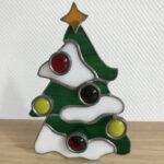 Kerstboompje met theelichtje
